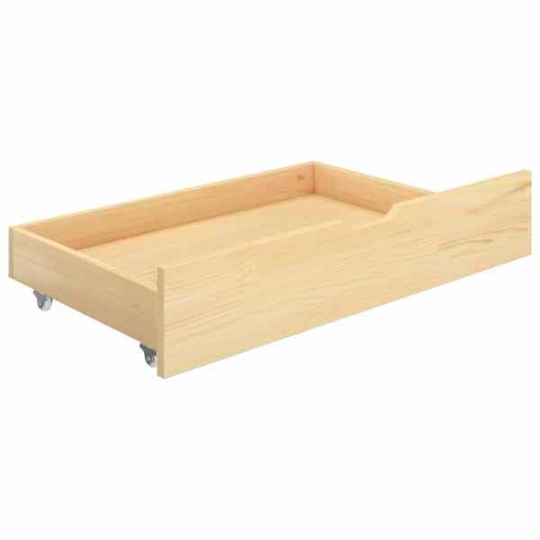 Sertare pentru pat,  2 buc., lemn masiv de pin