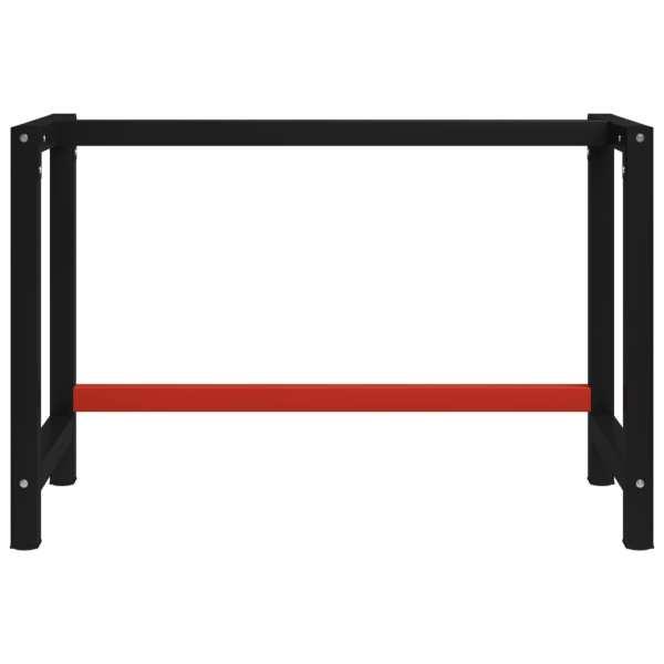Cadru metalic banc de lucru, 120x57x79 cm, negru și roșu