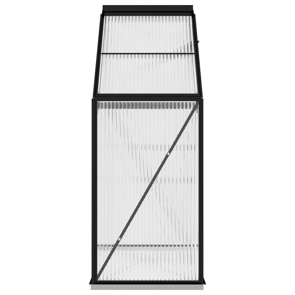 Seră, antracit, 1,33 m², aluminiu