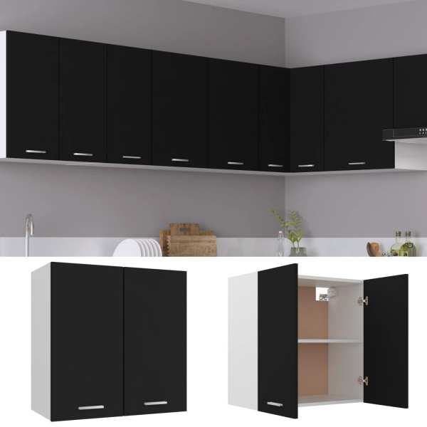 Dulap de bucătărie, negru, 60 x 31 x 60 cm, PAL