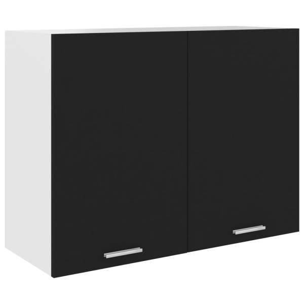 vidaXL Dulap suspendat, negru, 80 x 31 x 60 cm, PAL