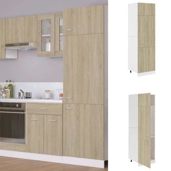vidaXL Dulap pentru frigider, stejar Sonoma, 60 x 57 x 207 cm, PAL