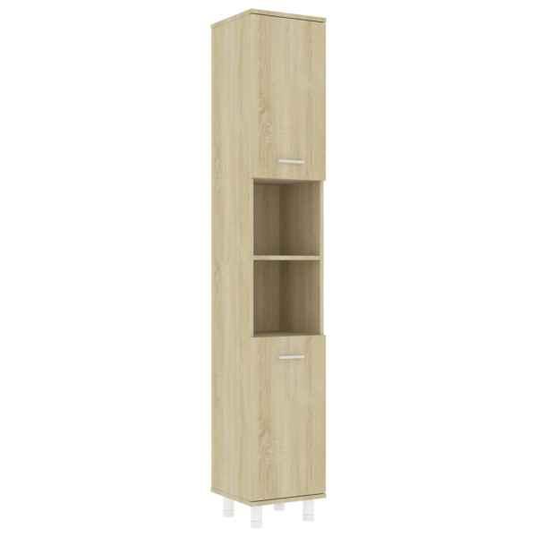 Dulap de baie, stejar Sonoma, 30 x 30 x 179 cm, PAL
