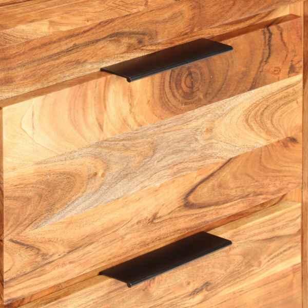 Dulap cu sertare, 118 x 33 x 75 cm, lemn masiv de acacia