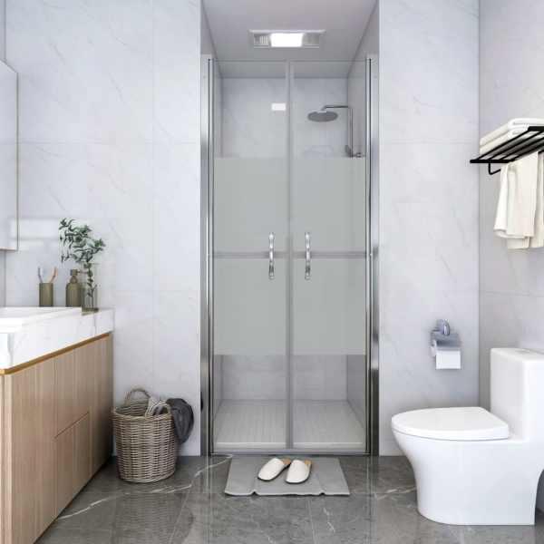 vidaXL Ușă cabină de duș, jumătate mat, 76 x 190 cm, ESG