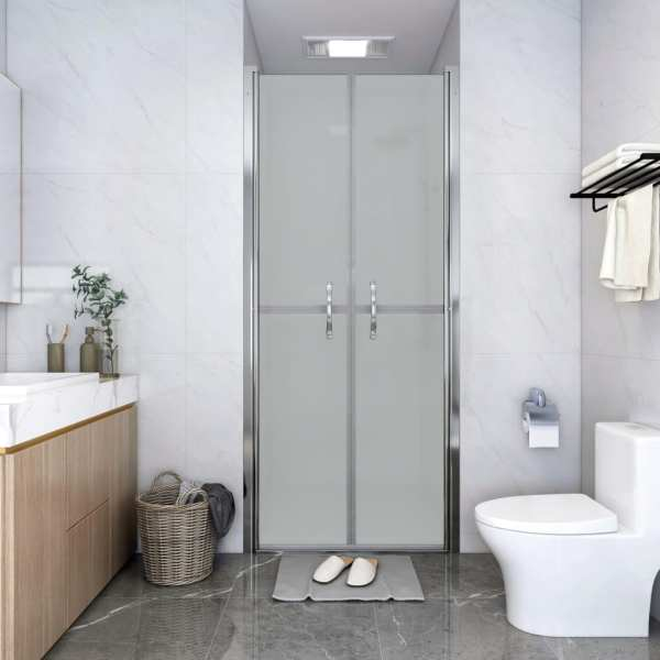 vidaXL Ușă cabină de duș, mat, 76 x 190 cm, ESG