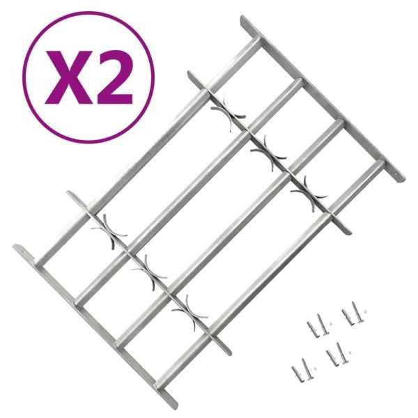 vidaXL Grilaje de siguranță ferestre, ajustabil, 2 buc., 1000-1500 mm