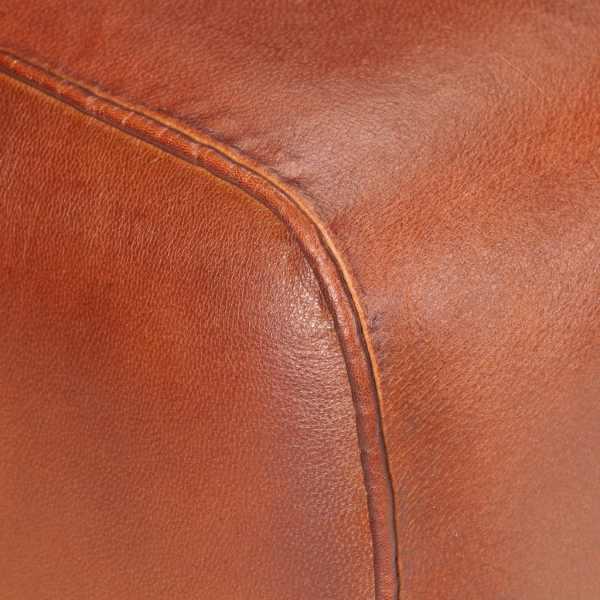 Banchetă, maro, 58 cm, piele naturală