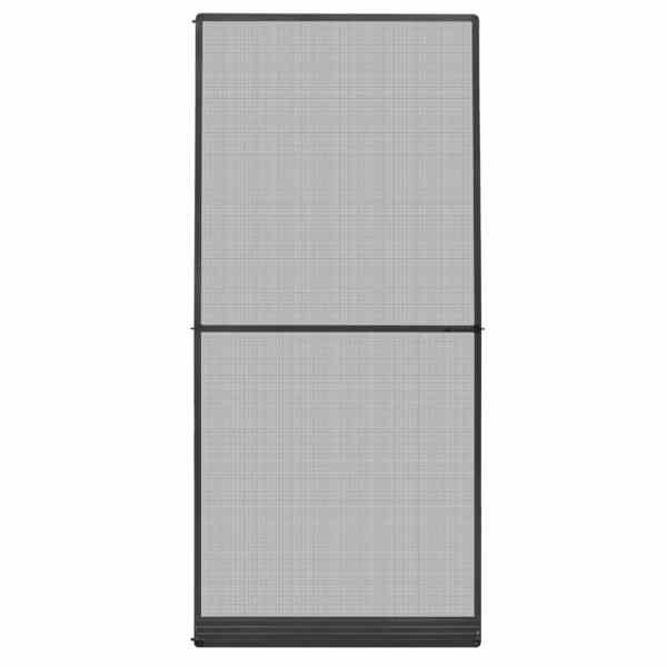 vidaXL Plasă insecte cu balamale pentru uși, antracit, 100 x 215 cm