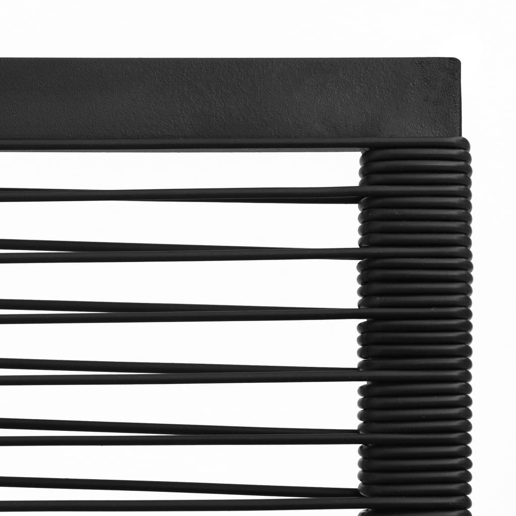 Set mobilier de exterior, 7 piese, negru, ratan PVC