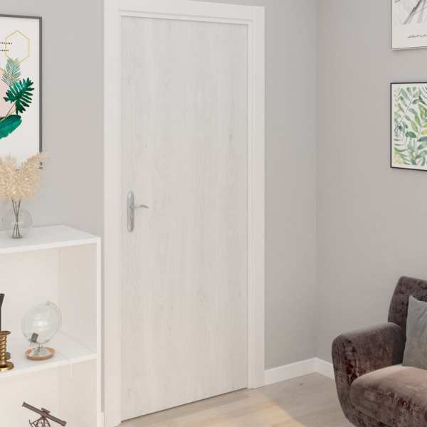 vidaXL Folii de ușă autoadezive, 4 buc., lemn alb, 210 x 90 cm, PVC