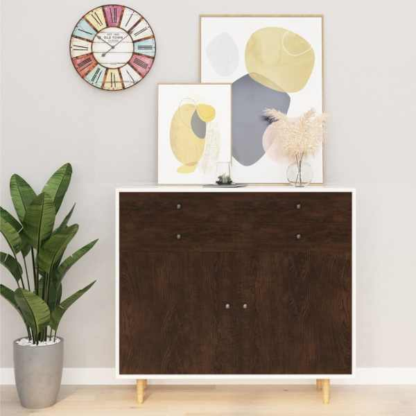 vidaXL Folii mobilier autoadezive, 2 buc. stejar închis, 500×90 cm PVC