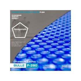 couverture à bulles pour piscine bois hexagonale