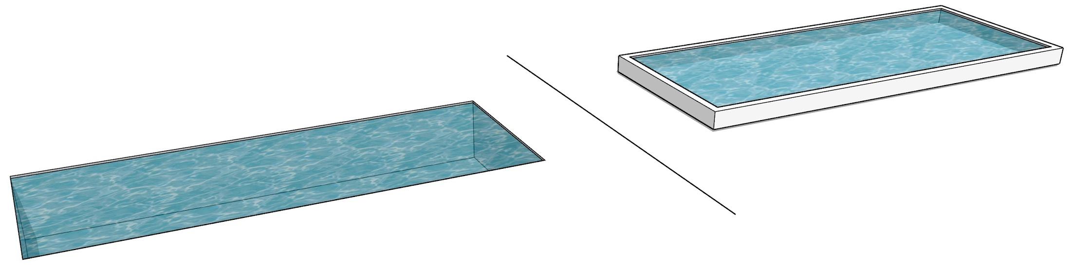 piscine enterrée versus piscine semi hors-sol