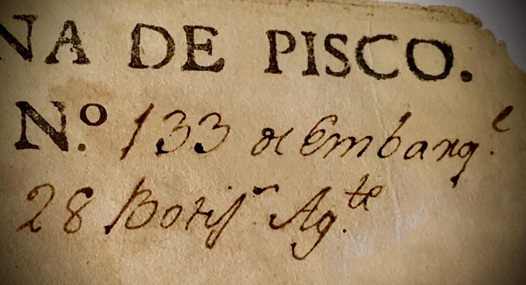 Botijas de Pisco, 1597 – 1655