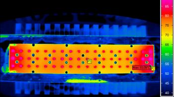 Mesures thermiques sur le système optique LED