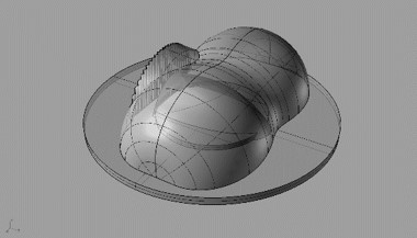 Simulation freeform silicone lens