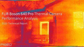 Analyse de performances: caméra thermique FLIR Boson