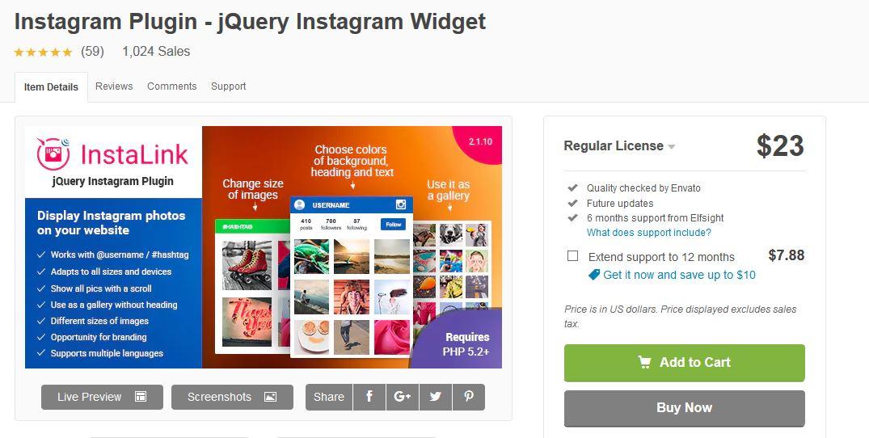 Instalink - best of the best Instagram plugins