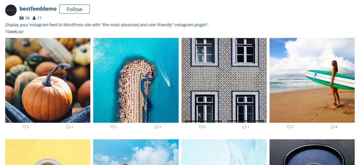 WD Instagram Feed - best of the best Instagram plugins