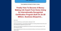 Life Coaching Certification – Huge Conversions!