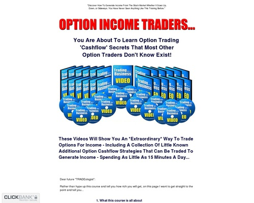 Option Income System – 50% Commissions – High Payout!