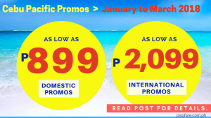 book cebu pacific promos for january, february, march