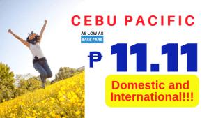 Cebu Pacific Air 11.11 Piso Fare Sale