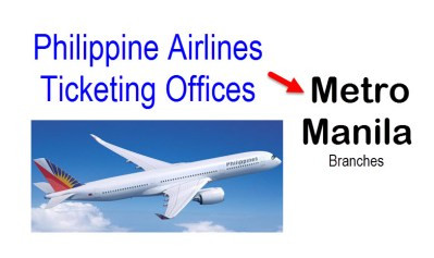 Philippine Airlines Ticketing Branches in Metro Manila – PAL Office Addresses