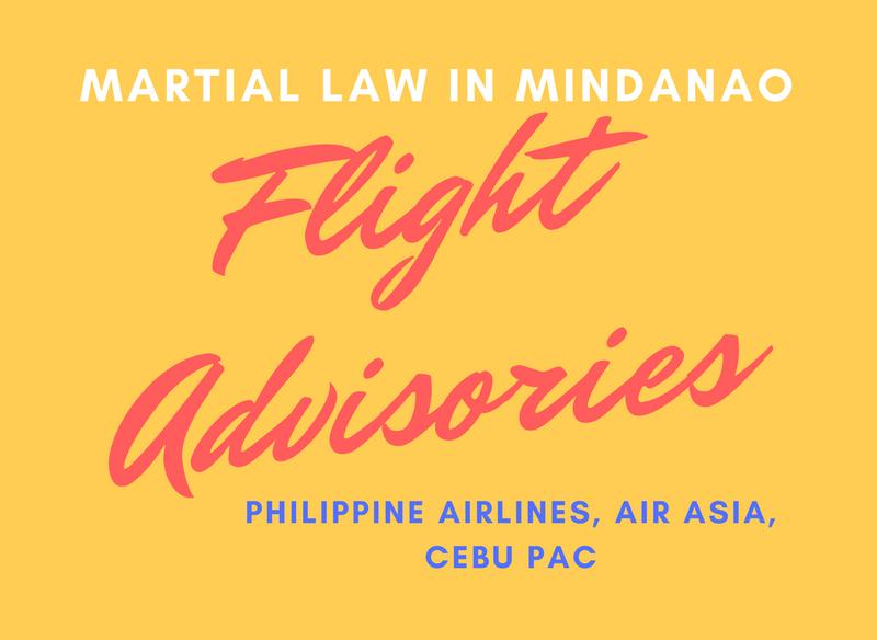 flight advisory martial law mindanao