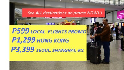 July 1 to December 31, 2017 Promo Fares for Domestic and International Destinations