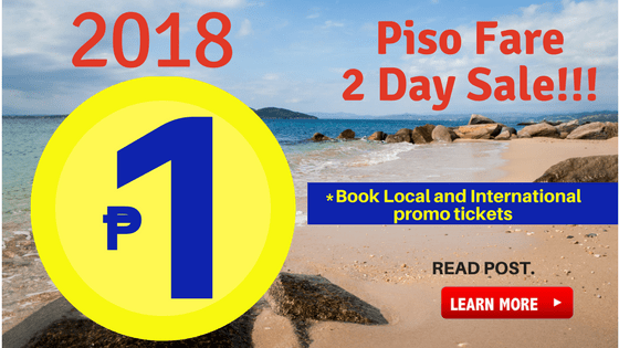 Cebu Pacific Piso Fare 2018 June July August September October