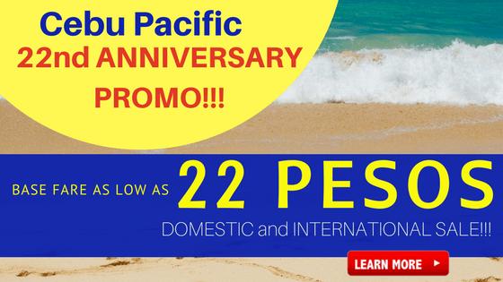 cebu pacific 22 pesos anniversary promo