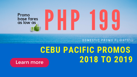 CEBU PACIFIC PROMO FARES NOVEMBER TO MARCH 2019