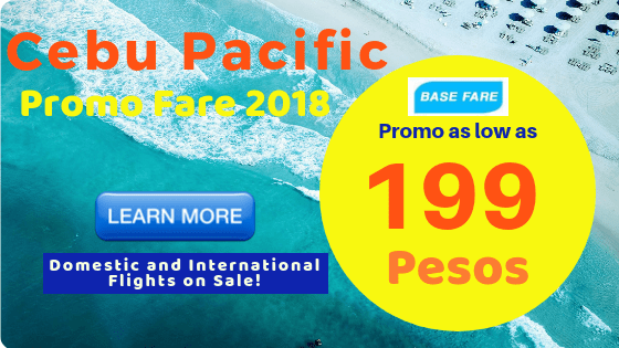 cebu pacific sale on tickets promo