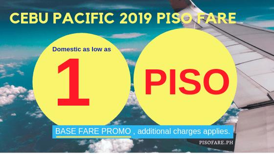 Cebu Pacific promo piso fare 2019