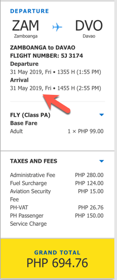 promo zamboanga to davao may 2019