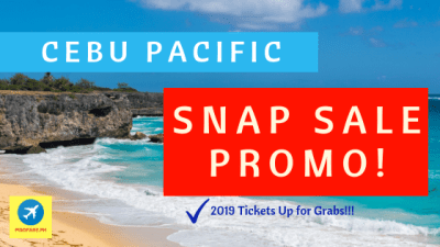 snap sale 2019 promo fare Cebu Pacific air