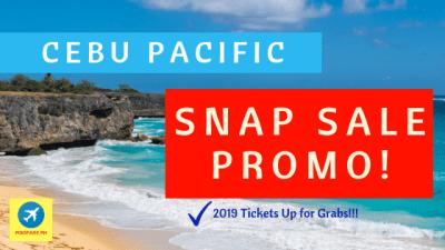 snap sale 2019 promo fare Cebu Pacific air