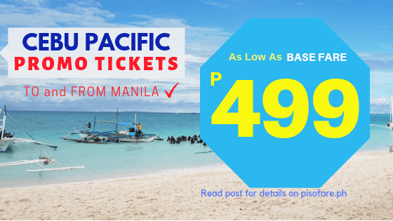 499 promo manila to caticlan, siargao, cebu etc
