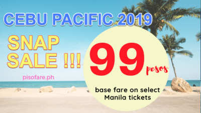 Cebu Pacific Promo Fare 99 pesos