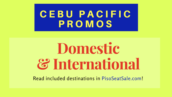 Cebu Pacific Air Promo Fare 2018 to 2019