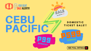 Cebu Pacific Piso Seat Sale promo deals for April and June 2020