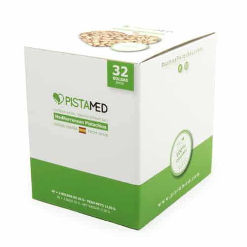 Caja de 32 bolsas pistachos PISTAMED