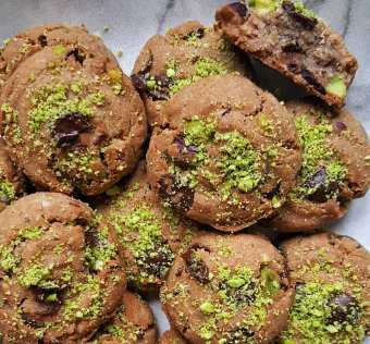 Cookies de chocolate y pistachos