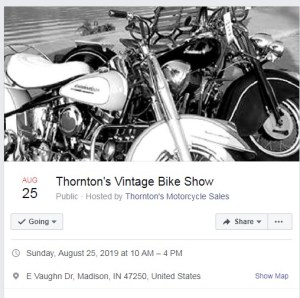 Thorntons Vintage Bike Show @ Madison Indiana | Madison | Indiana | United States