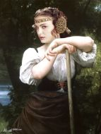 "Releitura de ""The Haymaker"", de William-Adolphe Bouguereau"