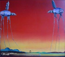 """Releitura de """"Os elefantes"""", de Salvador Dalí"""