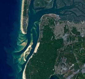 A Baía de Arcachon, na França.