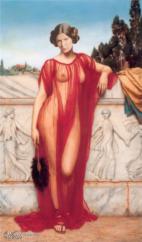 "Releitura de ""Athenais"" de John William Godward"